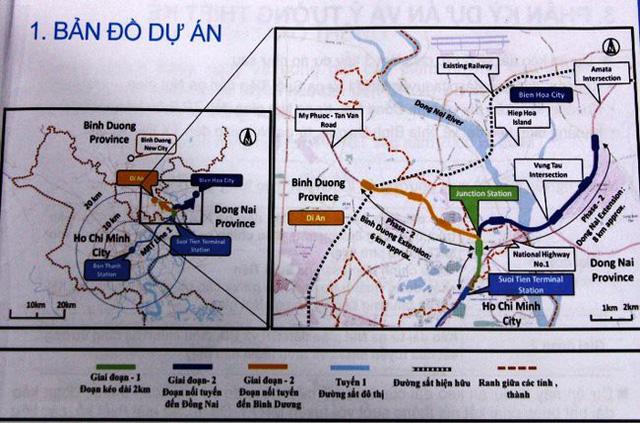Bản đồ tuyến dự án metro từ TP.HCM đến Bình Dương và Đồng Nai